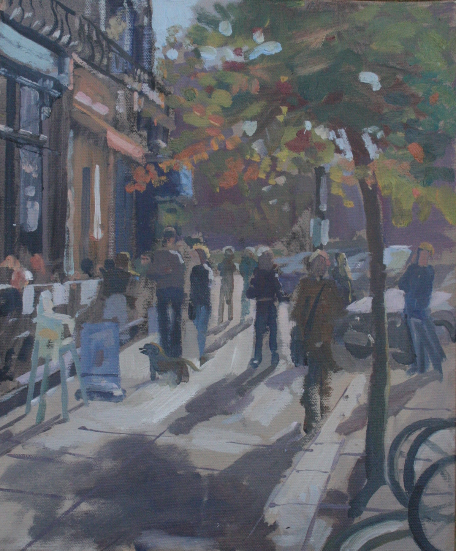 "Autumn stroll Primrose Hill 10"" x 12"" £200"