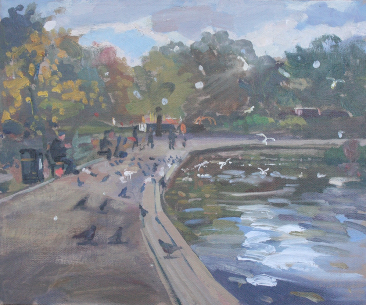 "Boating Lake Alexandra Park 10"" x 12"" (SOLD)"