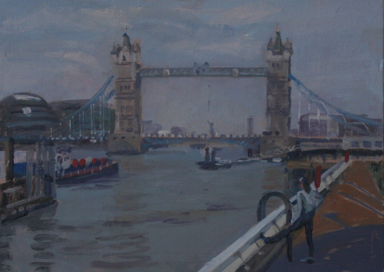 "Early Morning Tower Bridge 10"" x 14"" (SOLD)"