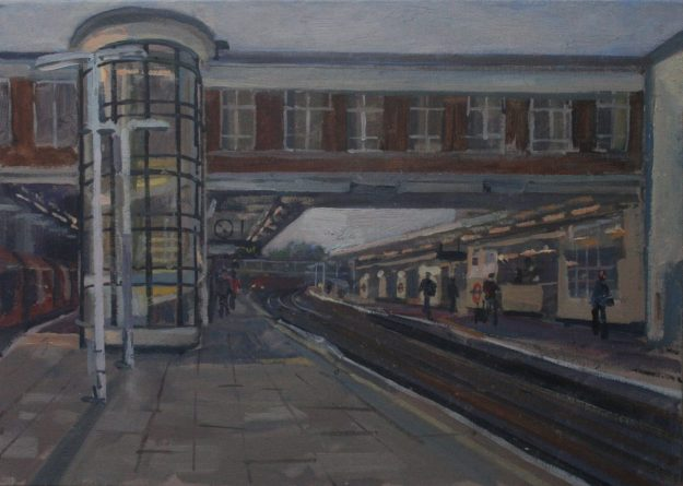 """East Finchley Train Station 10"""" x 14"""" £200 (Available)"""