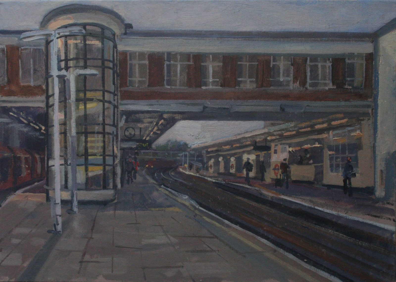 "East Finchley Train Station 10"" x 14"" £200 (Available)"