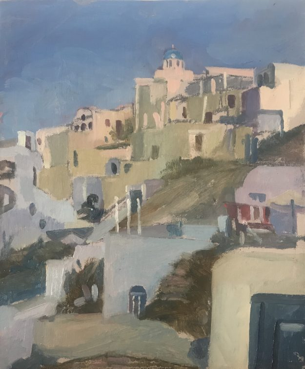 Hillside View Santorini 10 x 12