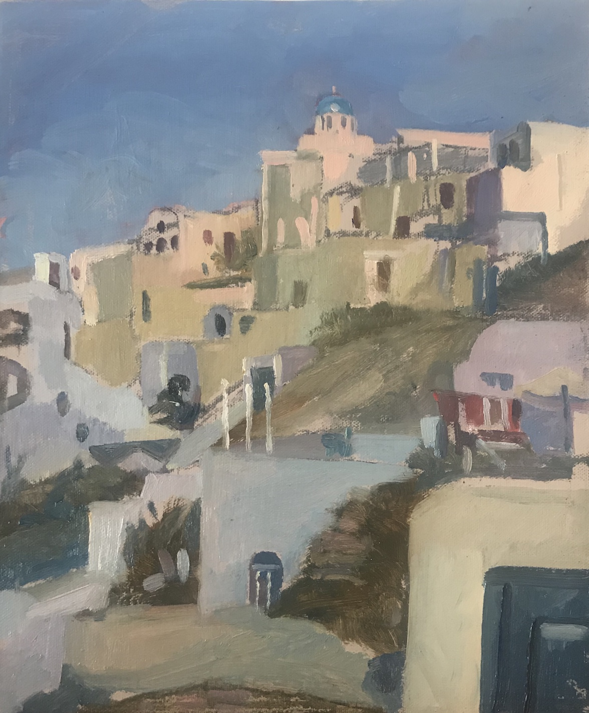 Hillside View Santorini 10 x 12