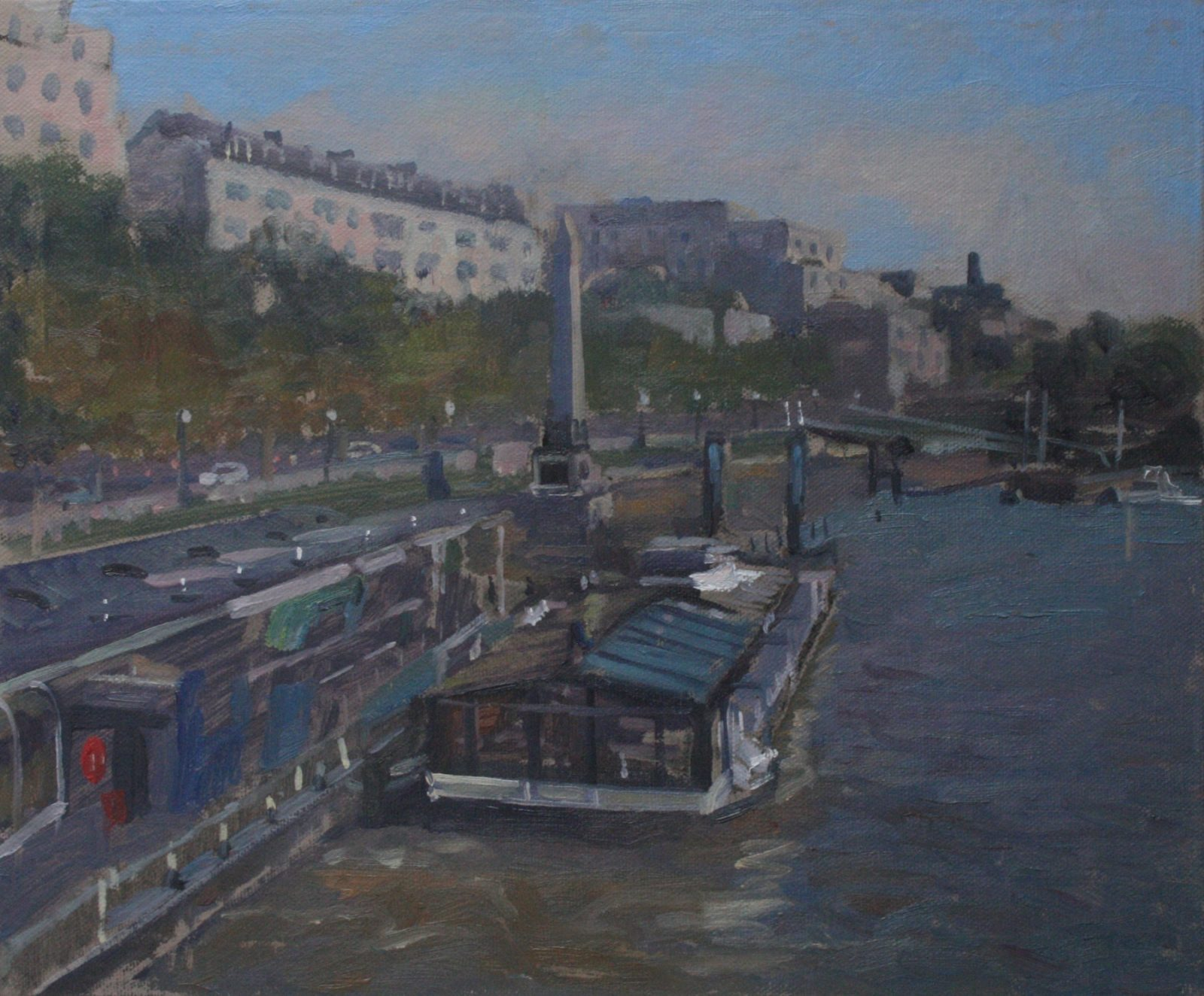 "Hungerford Bridge Leisure cruiser 10"" x 12"" (SOLD)"