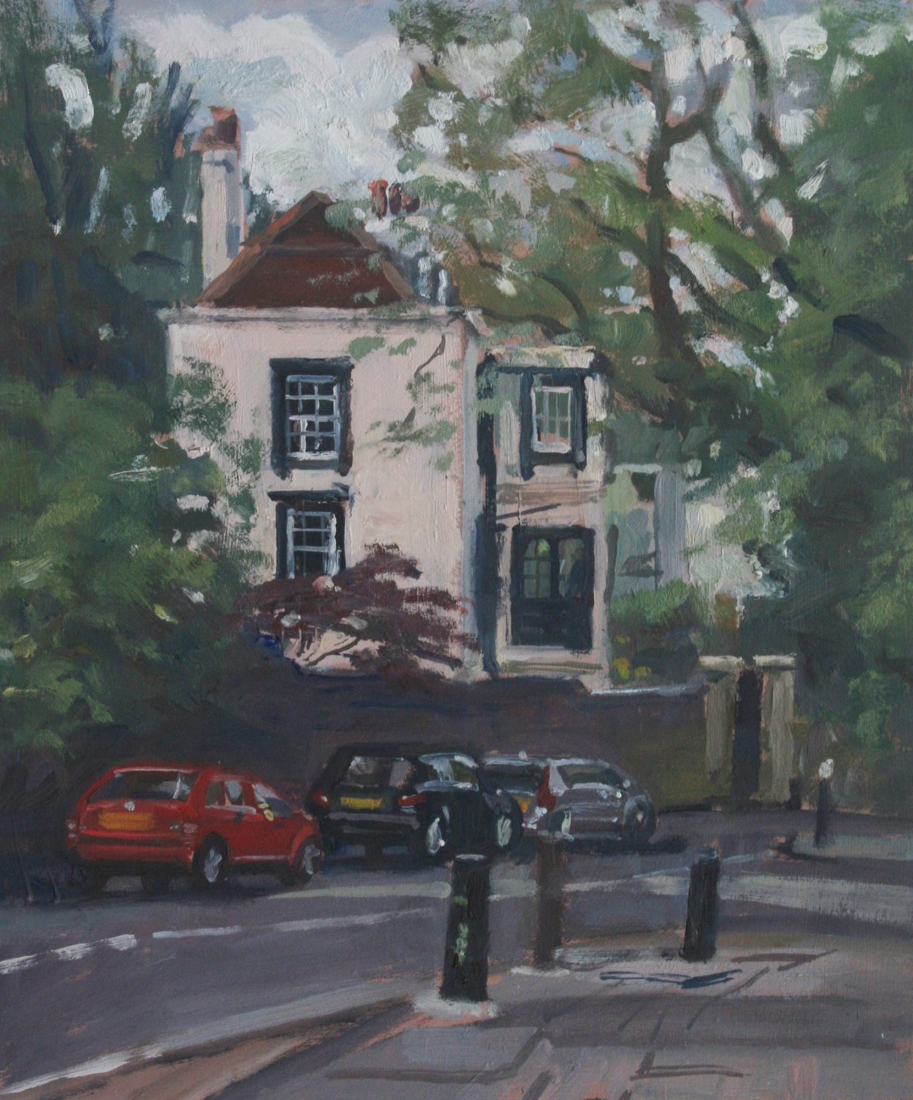 "Jacksons Lane, Highgate 10"" x 12"" £200 Available"