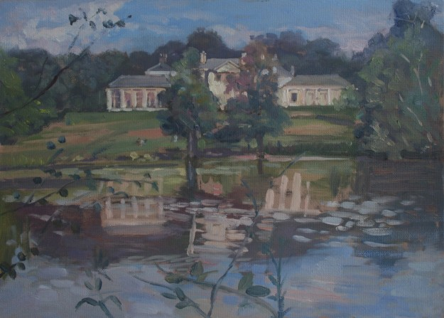 """Kenwood House Lake View 10"""" x 14"""" £200 (Available)"""