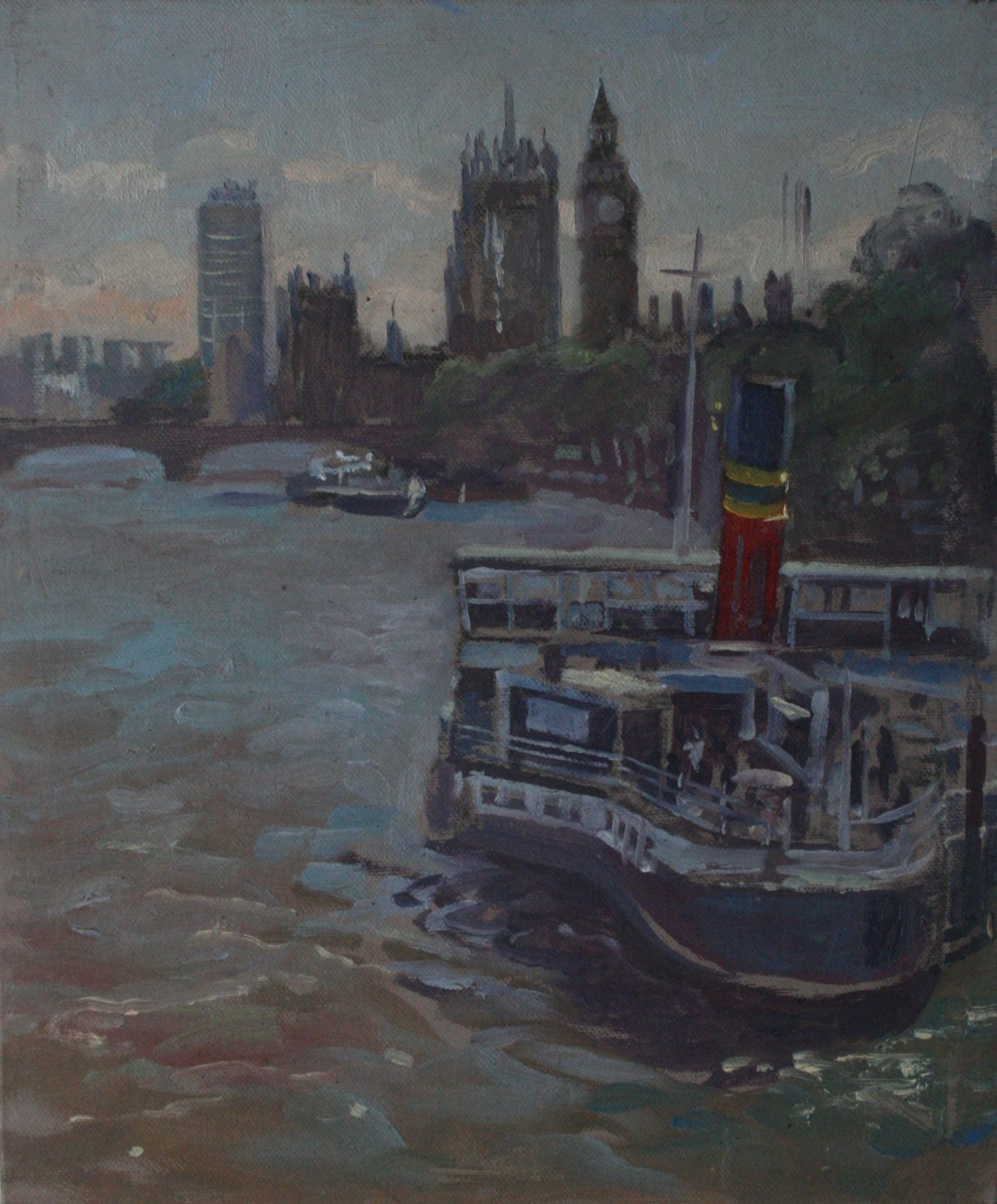 "View from Hungerford Bridge 10"" x 12"" (SOLD)"