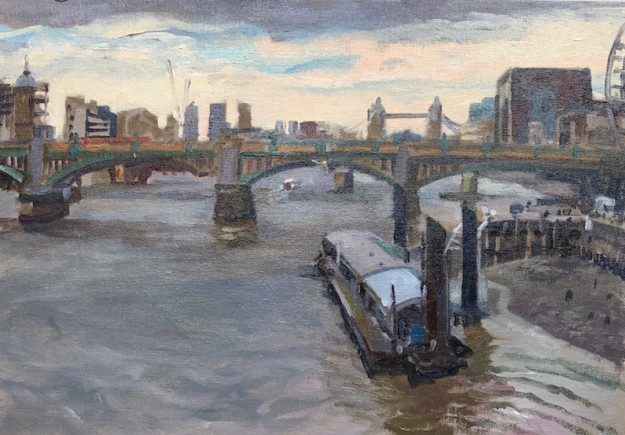 April Morning, Millennium Bridge. 10 x 15. £350
