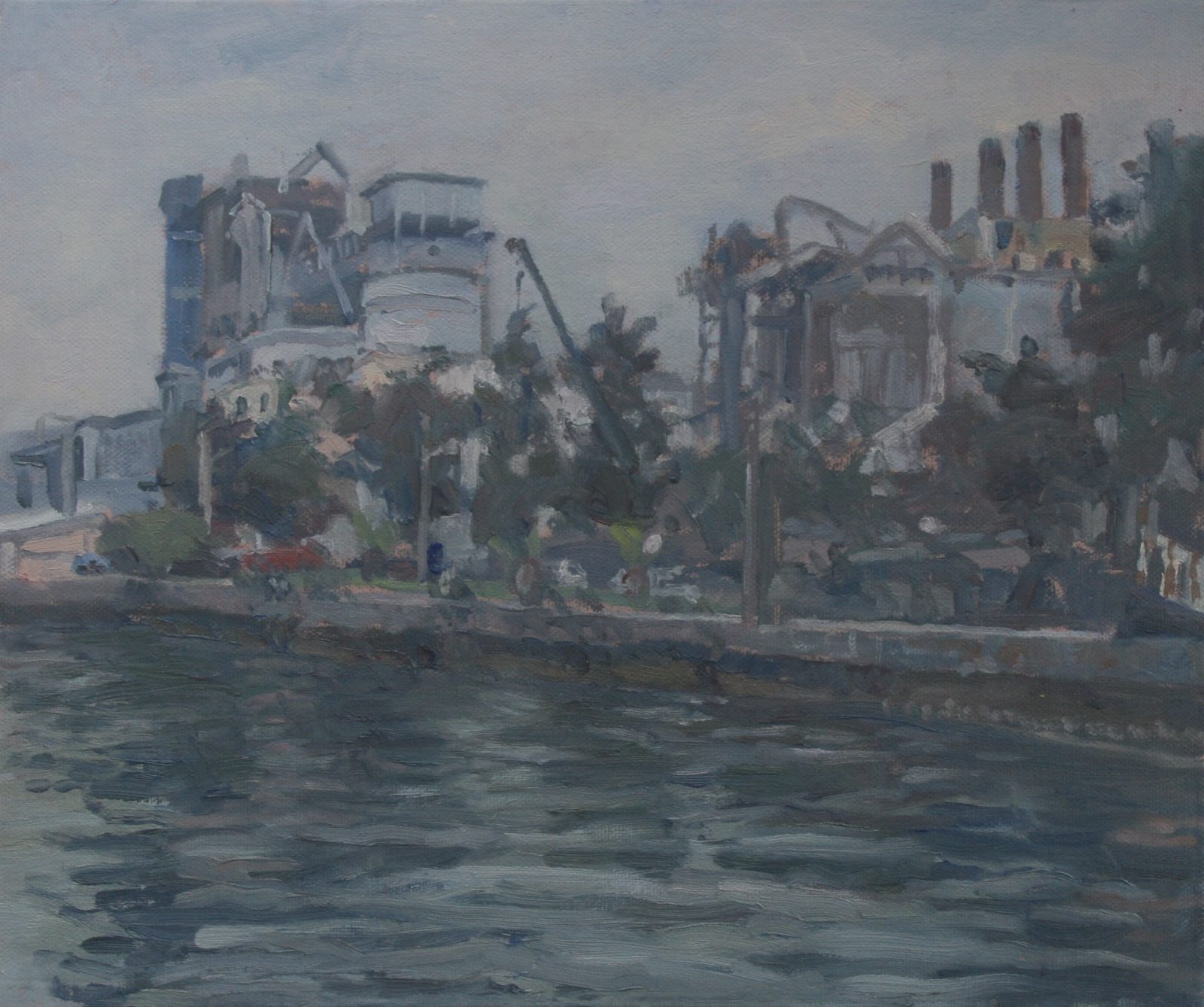 Cement works Elefsina (sea view) (10 x 14 ) £250