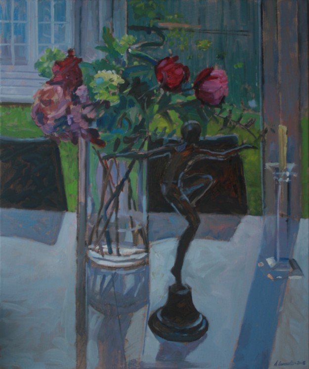 Flowers, Statuette and a Candlestick (20 x 24) £495