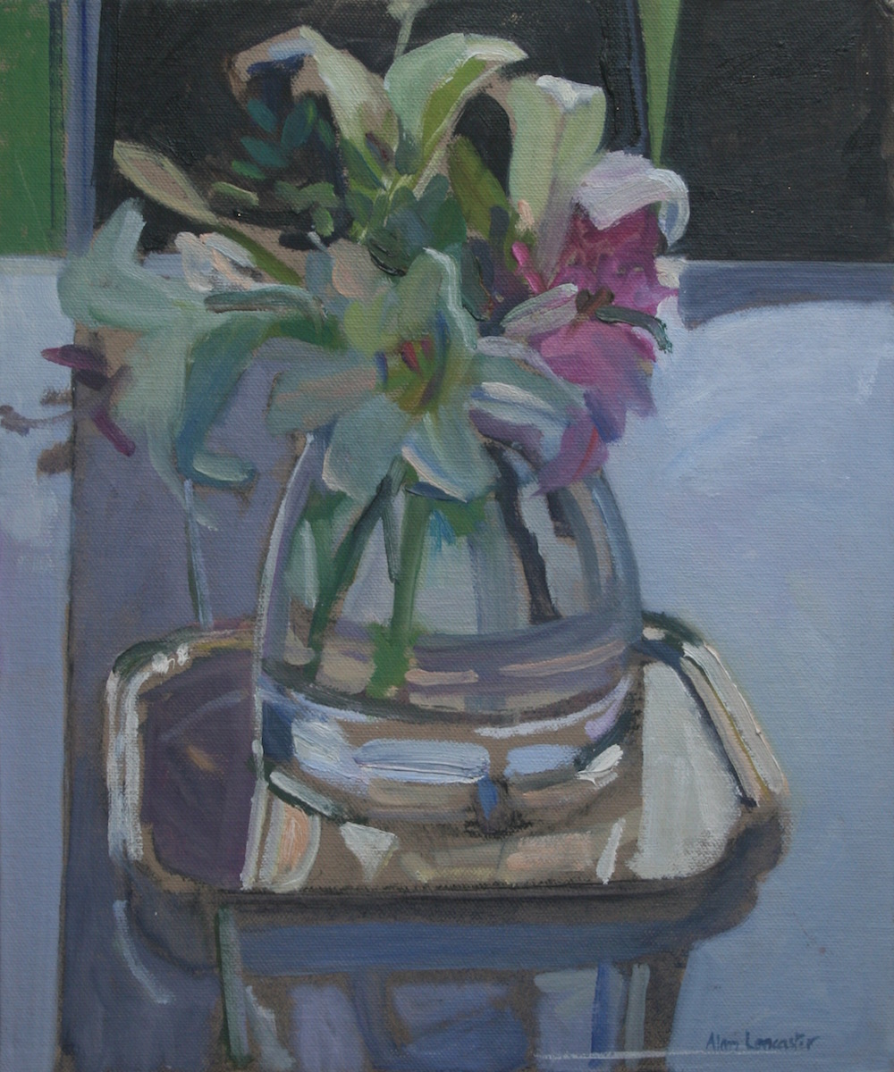 Lilies in a Clear Vase (12 x 10) £295