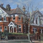 Early Spring. Lovely Corner House. Roseberry Road 10 x 15 £325.00