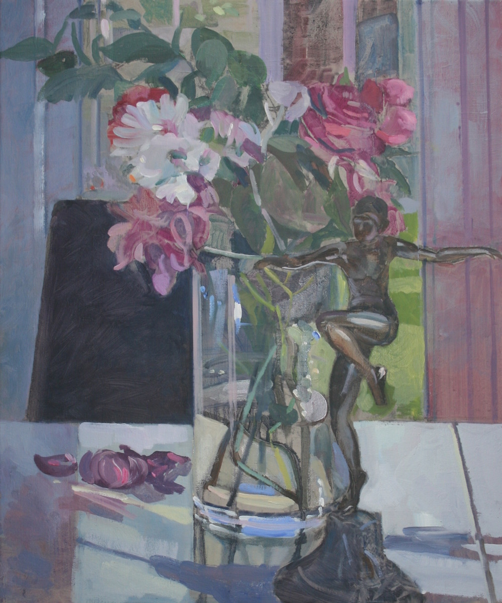 Pink and White Flowers with a Statuette (20 x 24) £495