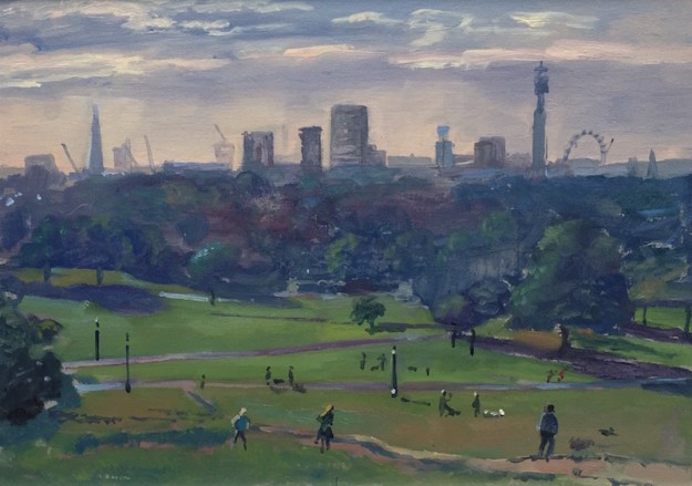 Sunrise Primrose Hill, late September (10 x 14) £325