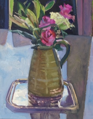 Roses in a Green Pitcher (10 x 12) £250