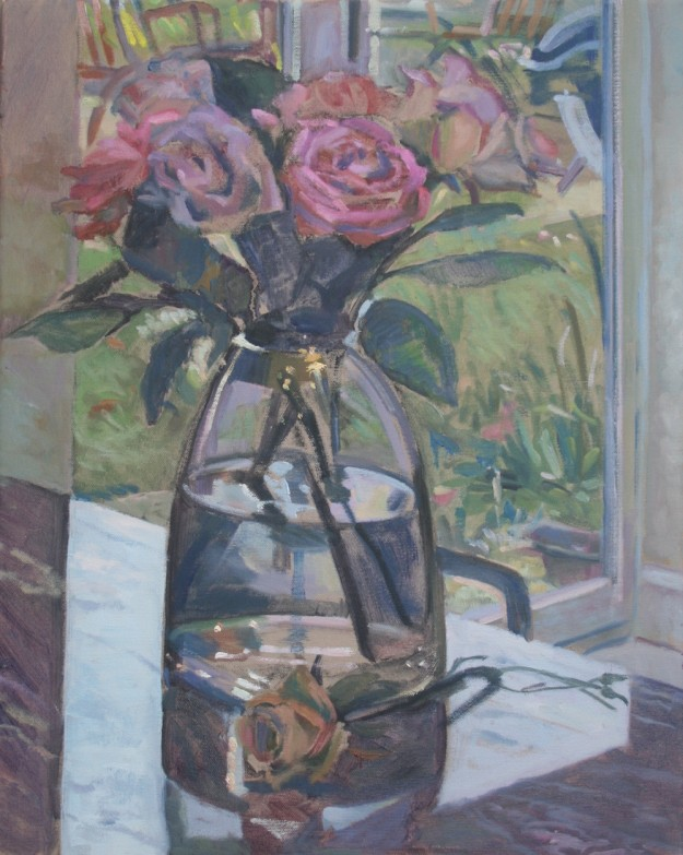 Roses on a Marble Top (16 x 12) £395.00