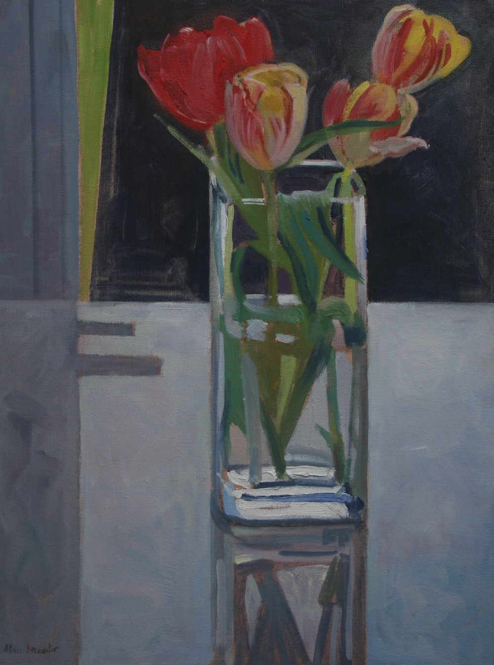 Spring Tulips on a White Table (12 x 16) £325.00