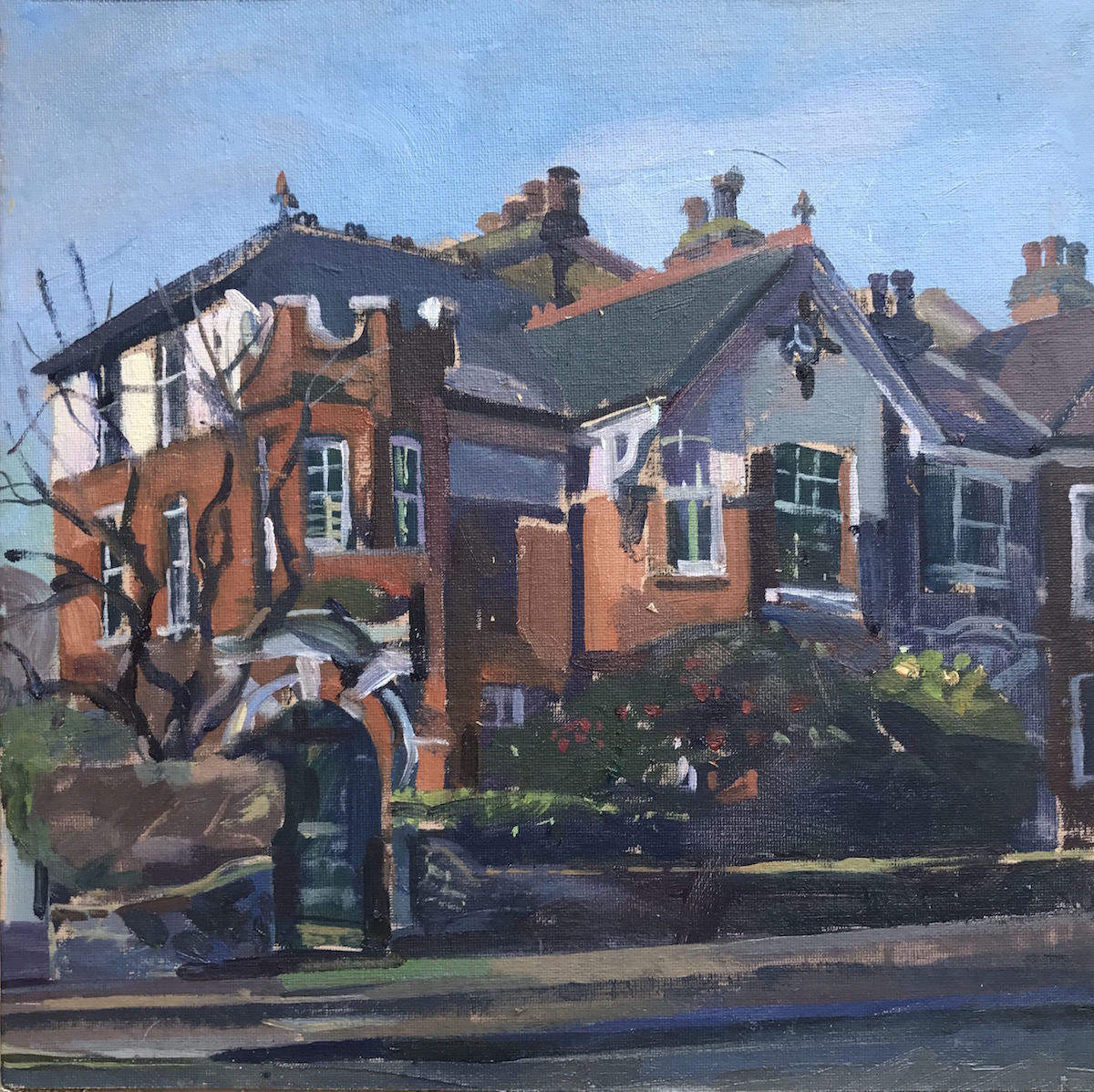 Spring afternoon. Corner House, Dukes Avenue . 12 x 12 £375.00
