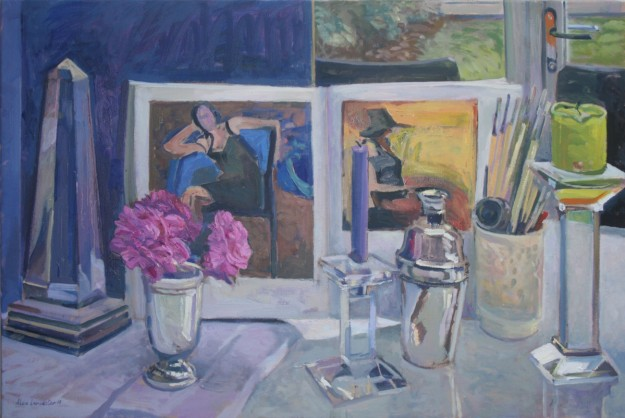 Still Life with Obelisk and Cocktail Shaker (20 x 30) £550