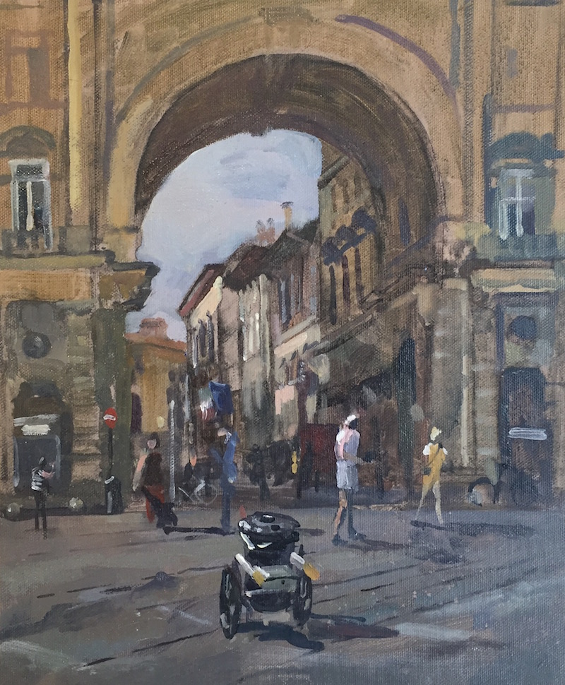 Stranded Dust Cart, Piazza Della Republica, Florence (10 x 12 inches) £295