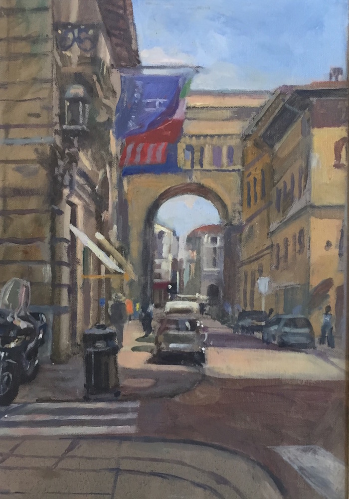 Via Strozzi, Florence (10 x 14 inches) £325