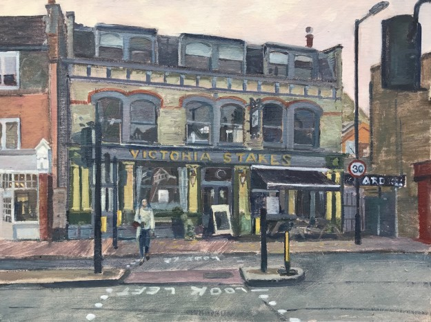 The Victoria Stakes, Muswell Hill, late October (12 x 16) £395.