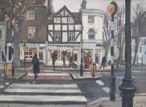 View Across Hampstead High Street 12 x 16 SOLD