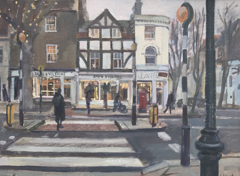 View Across Hampstead High Street 12 x 16 SOLD