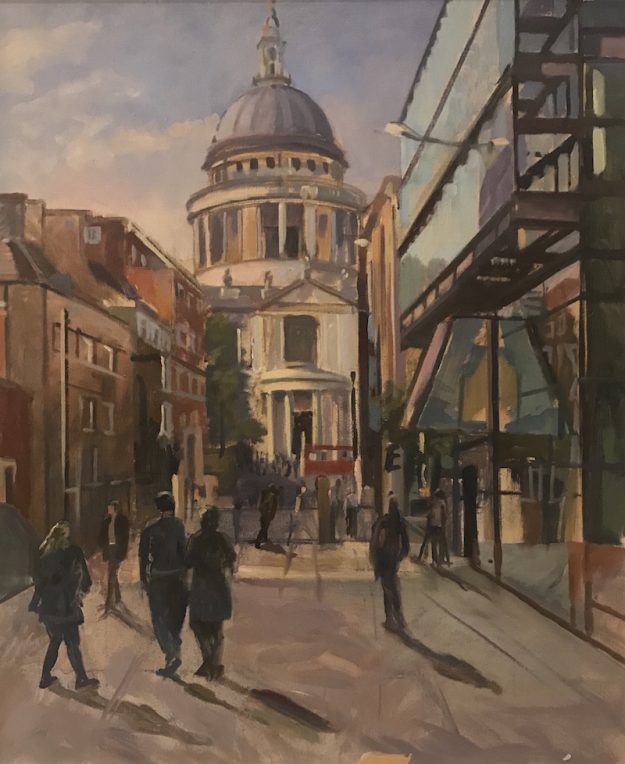 "Afternoon light St Pauls, St Paul's 20"" x 24"" £550"