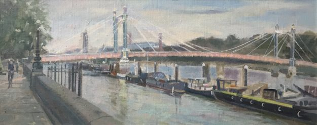 "Albert Bridge Looking East 10""x 24"" £395"