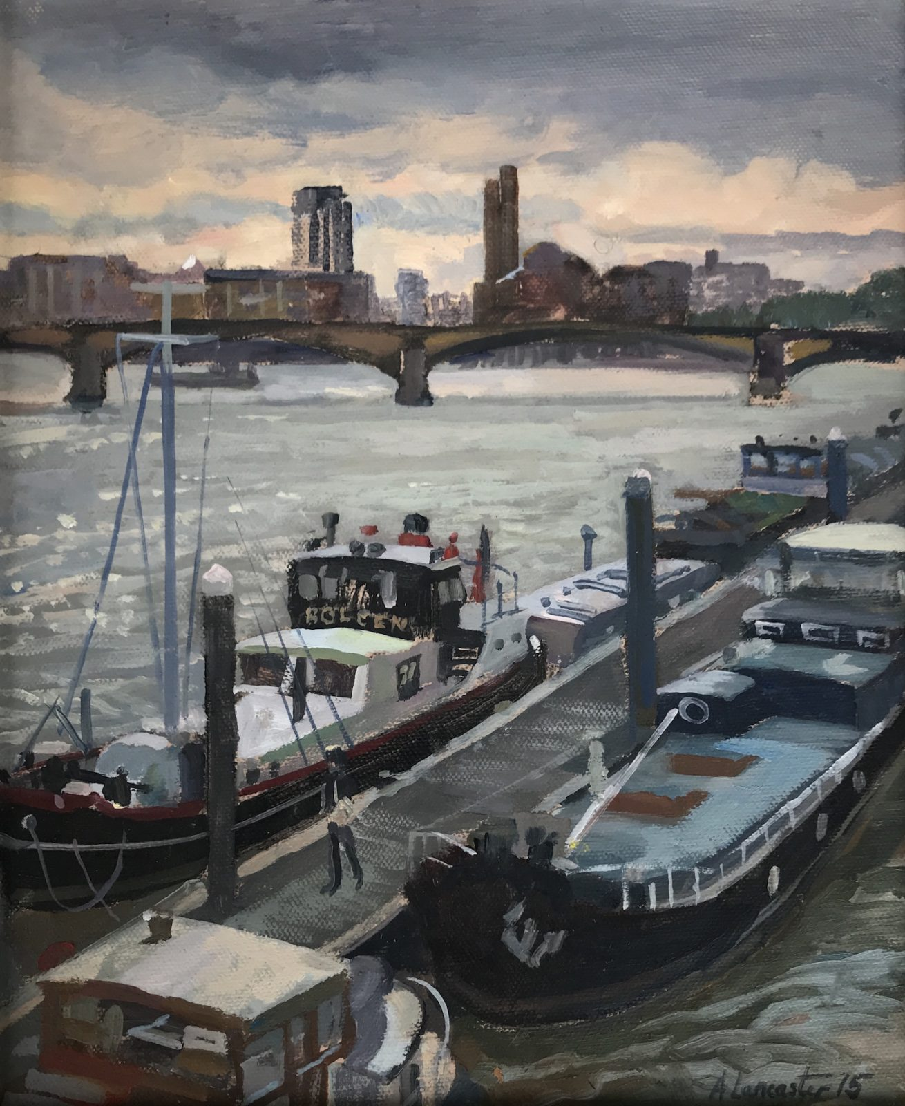 "Albert Bridge. Late Summers Day 10""x12"" £295"