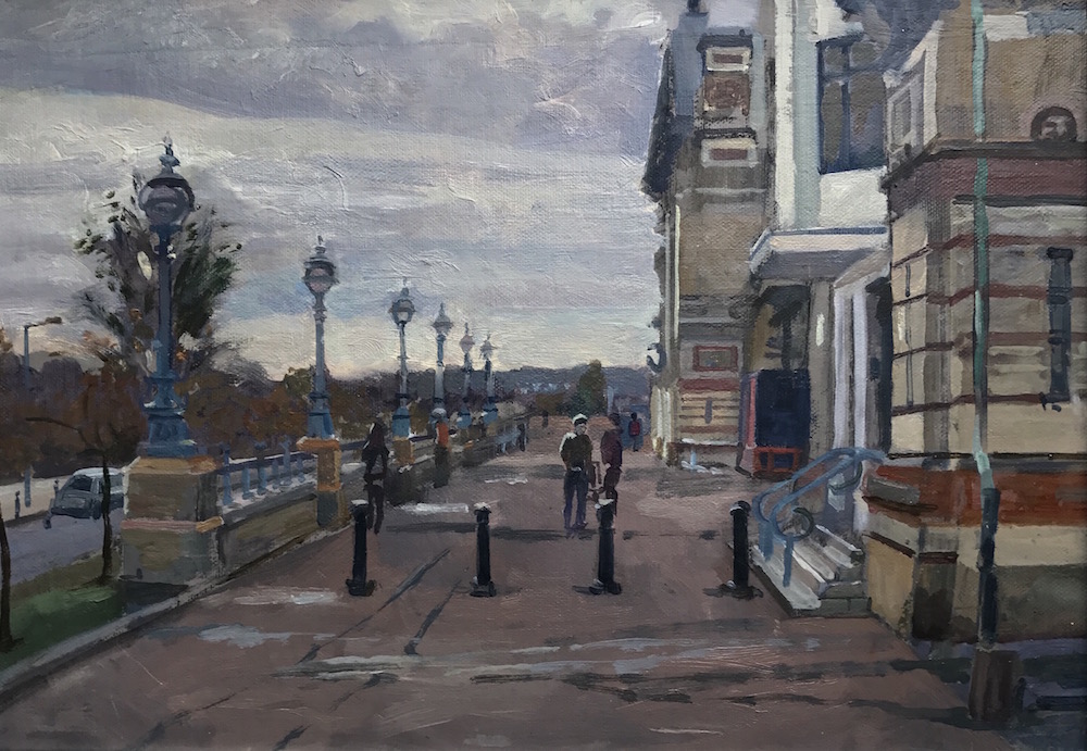 "Alexandra Palace. Turning to Dusk 10"" x 14"" £325"