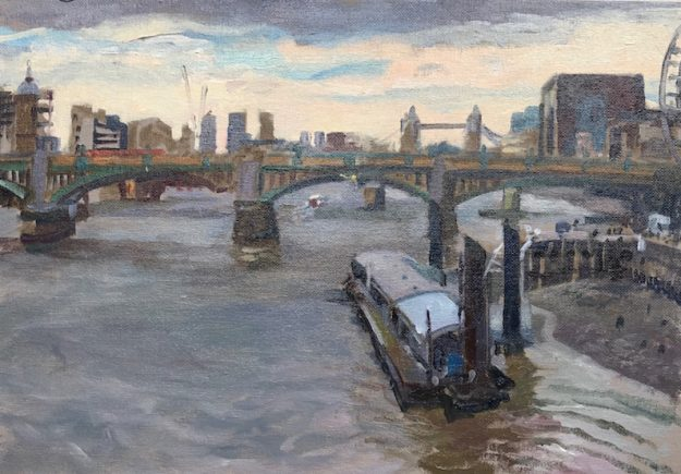 "April Morning, Millenium Bridge 10"" x 14"" £325"