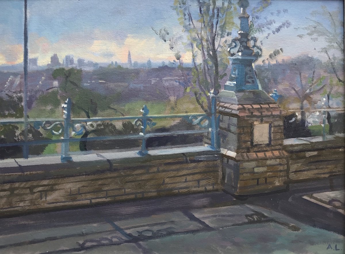 "April Morning View over Crouch End 12"" x 16"" (SOLD). Available as a print on canvas"