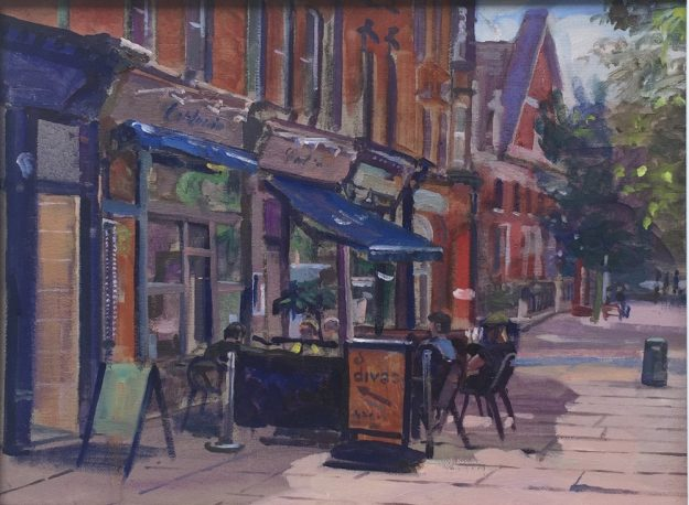 "Callucio's Hampstead 12"" x 16"" £350"
