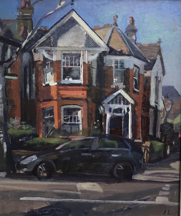 "Corner House Roseberry Road 10"" x 12"" (SOLD)"