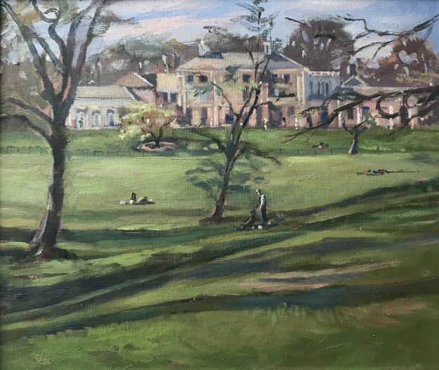 "Kenwood House Rear Elevation 10"" x 12"" £250"