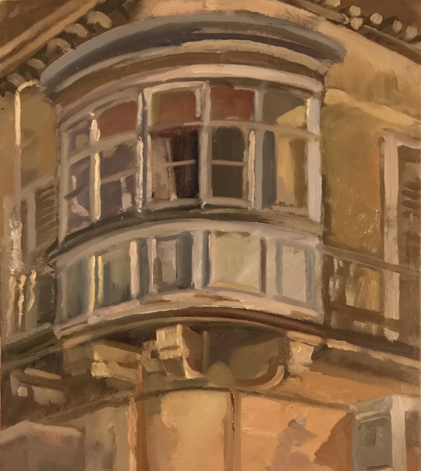 "Maltese Balcony, La Valletta 10""x 12"" £375"