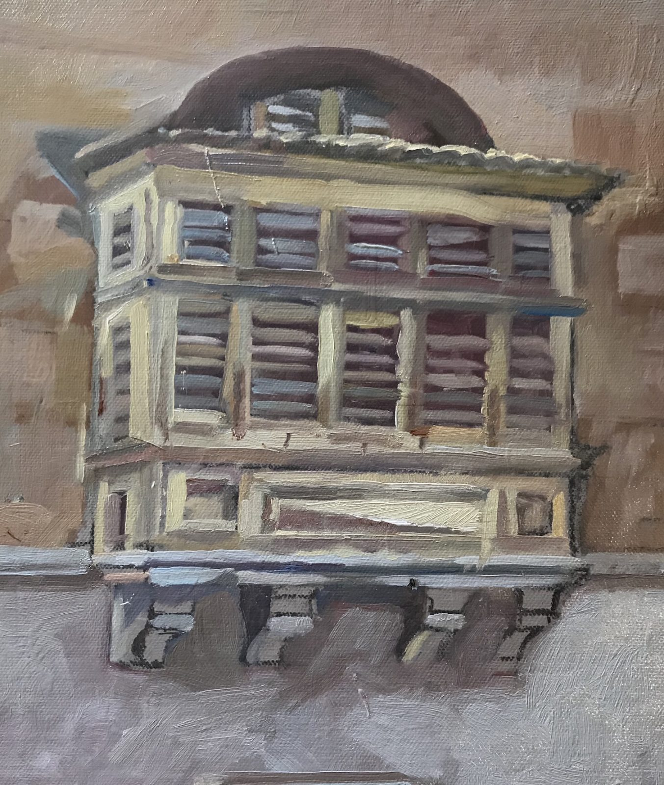 "Maltese Balcony Spinola 10""x 12"" £325.00"
