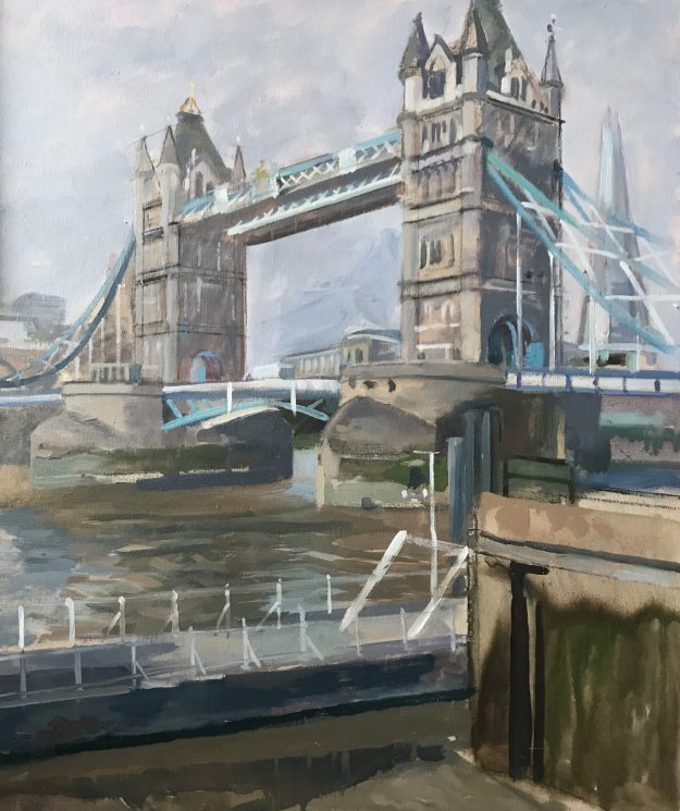 "October Morning. Tower Bridge 20""x 24"" £495"