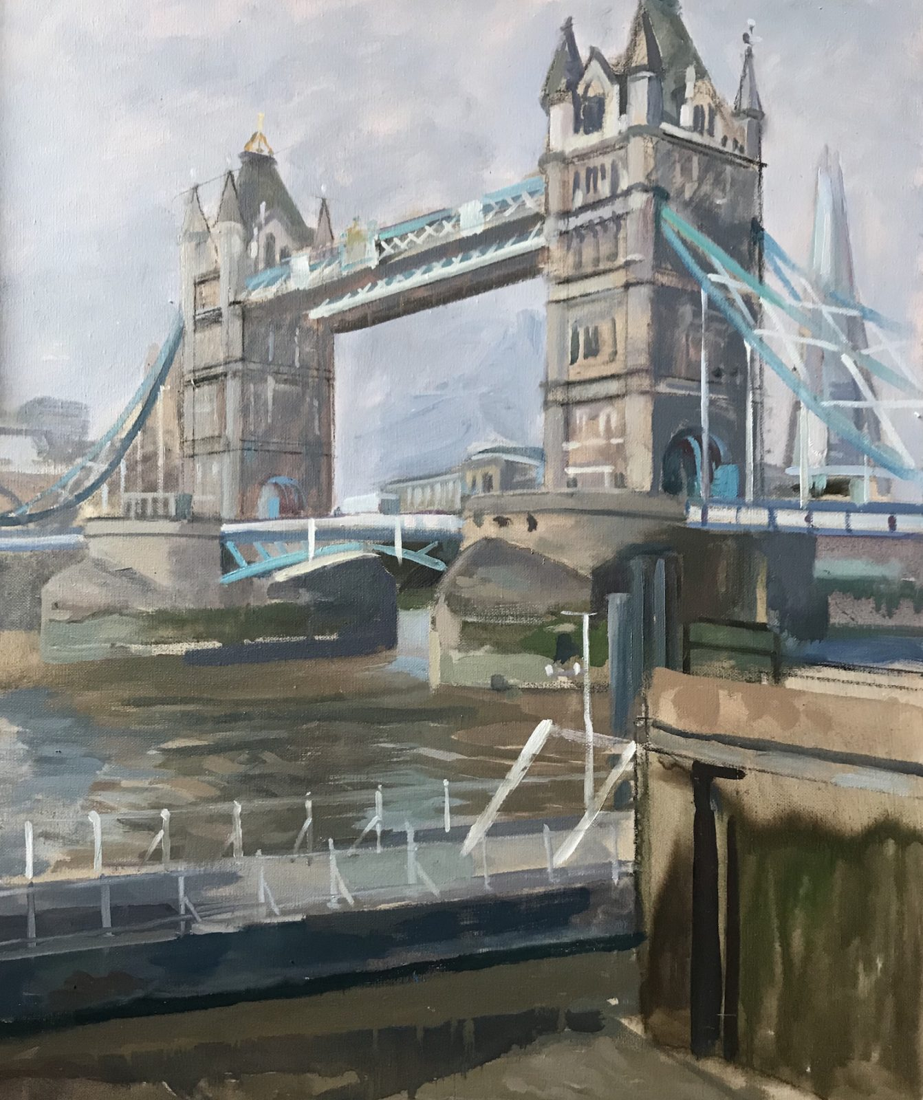 "October Morning. Tower Bridge 20""x 24"" (SOLD)"