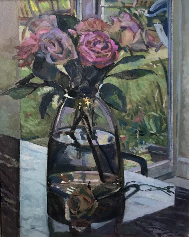 "Roses on a Granite worktop 16"" x 20"" £395"