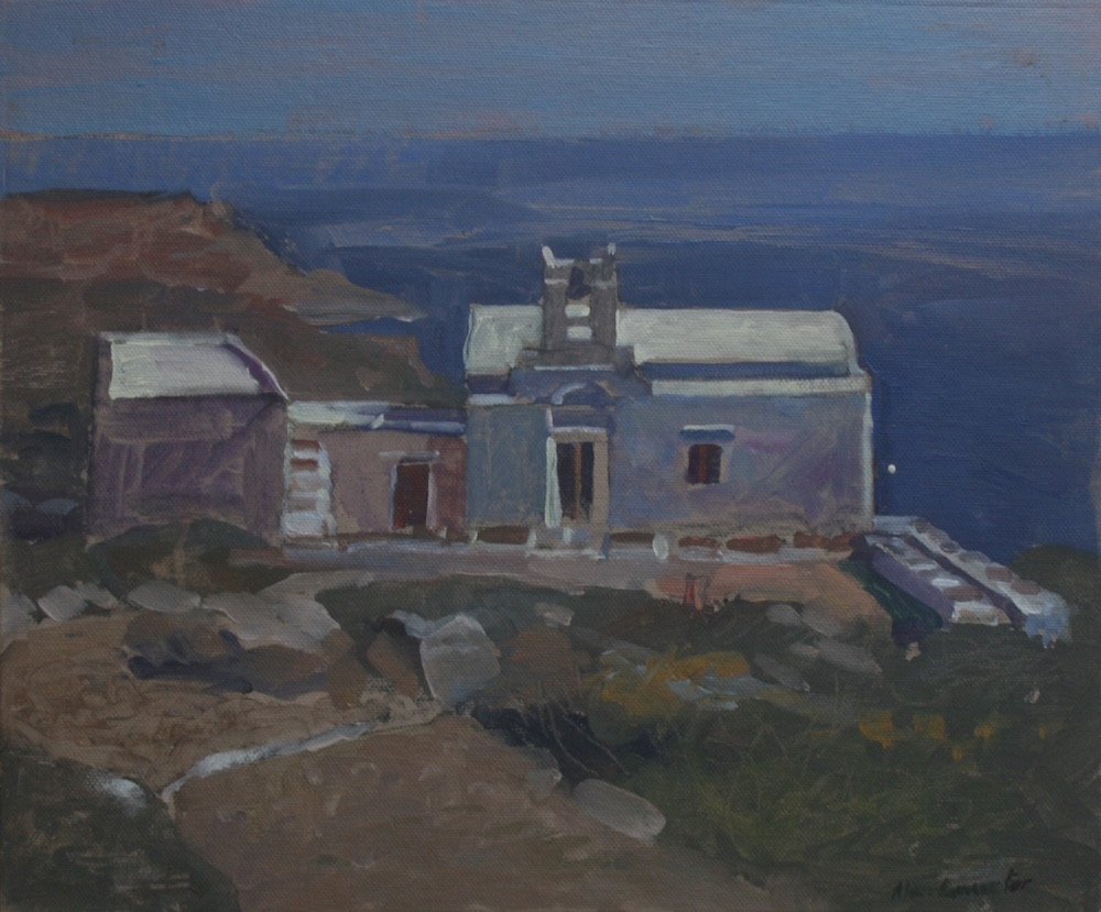"Sifnos Church Overlooking the Sea 10"" x 12"" £295"
