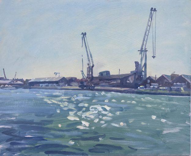 """St Malo Dockyard 10"""" x 12"""" £295"""