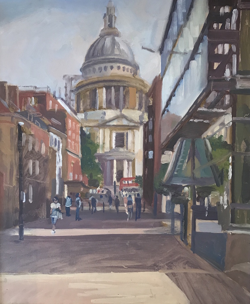 "St Pauls . Early morning. 10"" x 12"" £200 (AVAILABLE)"