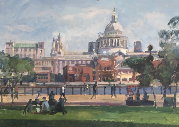 "St Paul's from Tate Modern 10"" x 14"" £295"