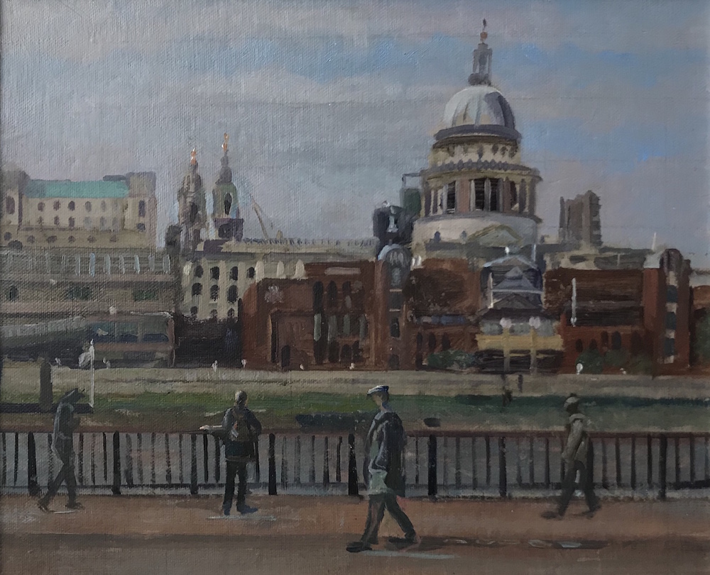 "St Paul's from Tate Modern 10"" x 14"" £325"