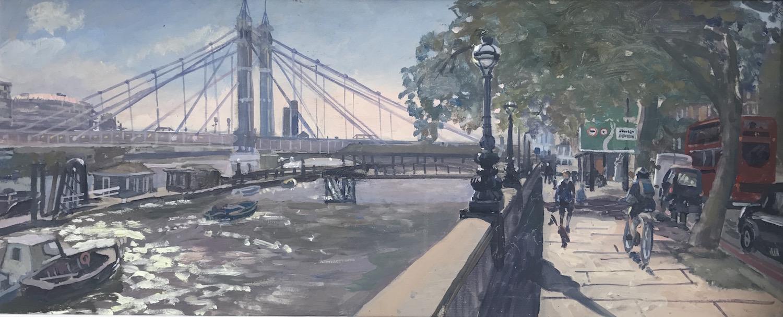 Sunny Afternoon Looking towards Albert Bridge £450