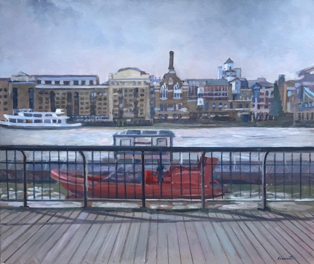 "Thames Rocket in of Butler's Wharf 10""x12"" £550"