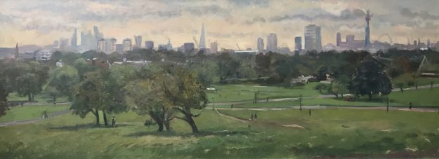 "The City from Primrose Hill 12""x 24"" £425"